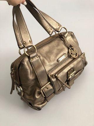 Michael Kors Gold Satchel bag MK - Original and 100% genuine leather