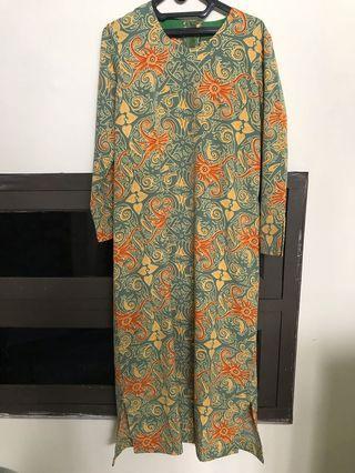 baju dress panjang batik