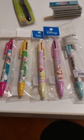 全新日本版迪士尼原芯筆加原子筆( 怪獸公司, Winnie the Pooh, chip and Dale, toy stores, cinnamoroll)