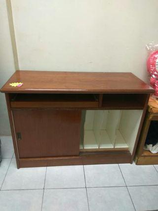 Dark Brown Wooden File Cabinet
