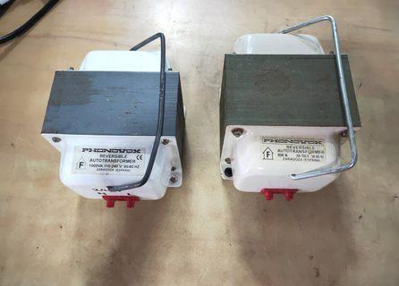 Phonovox 1000VA Reversible Autotransformer (2 pcs) @$ 60 each