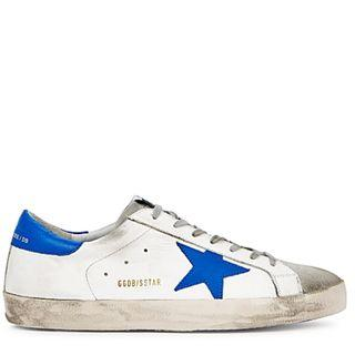 Golden Goose Deluxe Brand Superstar white distressed leather sneakers