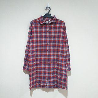 Uniqlo Flannel Long Blouse