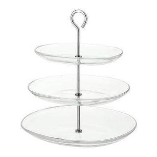 IKEA KVITTERA 3-Tier Glass Cupcake Stand