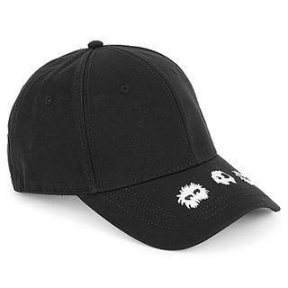 MCQ Alexander McQueen Black embroidered cotton cap