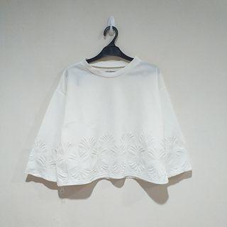 White Textured Blouse