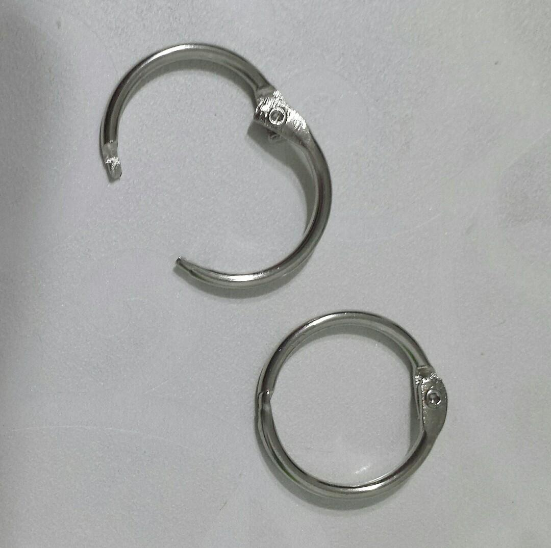 12pcs for $1.60 25pcs 50pcs Bookring keyring flip open split ring silver diy keychain binding book loop