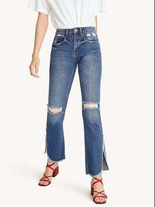 (New still with tag label) Mid rise straight jeans - POMELO