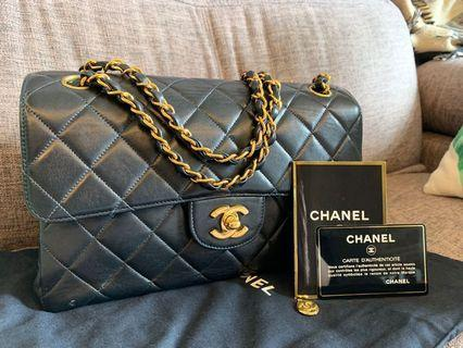 Chanel Vintage Double Flap 24k GHW