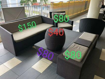 Single Seater Outdoor Patio Furniture for sale @$80 each