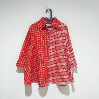Red Batik Blouse
