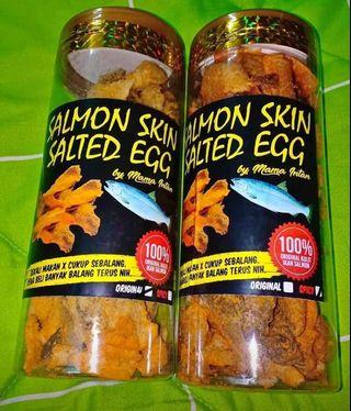 Salmon skin salted egg