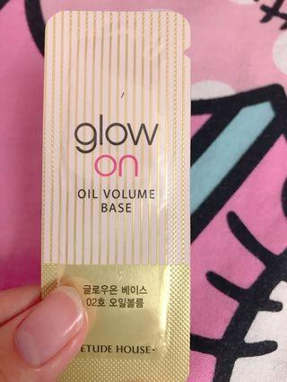 Brand new etude house Glow on oil volume base