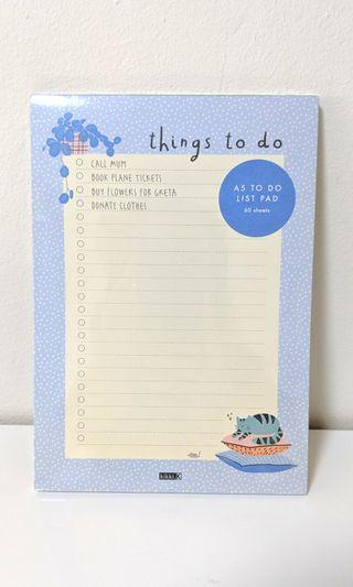 [NEW] Kikki.K A5 To Do List Note Pad