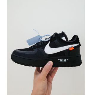 "Off-White x Nike Air Force 1 ""Black"""