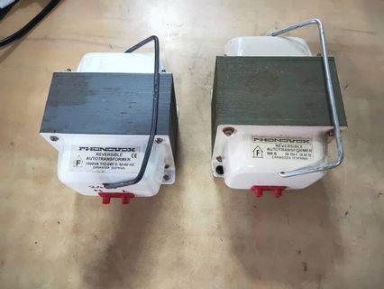 Phonovox 1000VA Reversible Autotransformer (2 PC's) @$60 each