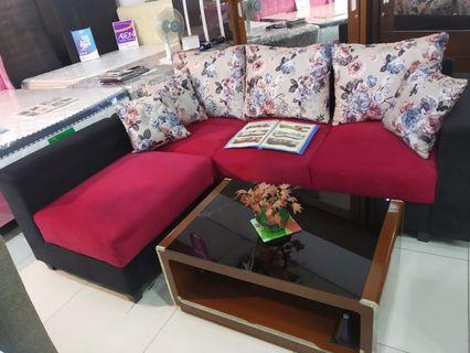 Cicilan Tanpa DP Sofa L + Meja