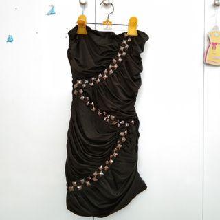 dress kemben hitam glam