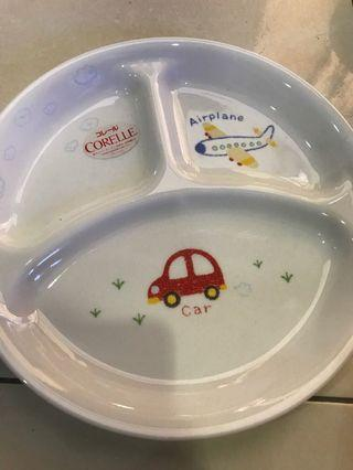 26cm corelle divider plate car airplane