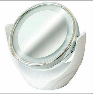 We top雙面❨放大+一般❩LED化妝鏡,全新
