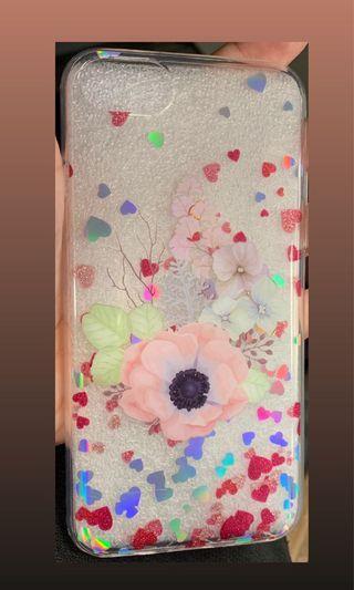 🚚 Iphone 8 Flower Glitter Case (BNIB)