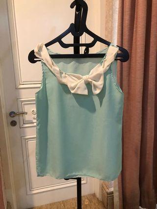Tiffany Blue Bow Blouse
