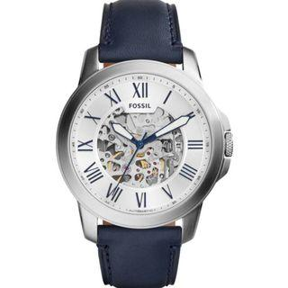 Fossil Grant Automatic Silver Skeleton Dial Men's Watch ME3111