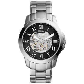 FOSSIL Grant Black Skeleton Dial Automatic Men's Watch ME3103