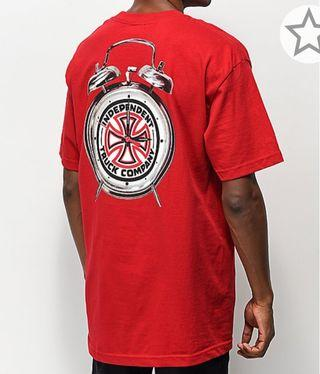 Independent X Thrasher time to go red t- shirt