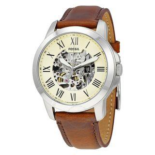 FOSSIL Grant Automatic Beige Skeleton Dial Men's Watch ME3099