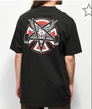 Independent X Thrasher pantagram black t-shirt