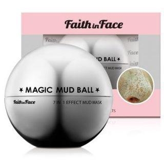 韓國魔術球面膜深層清潔人氣護膚品牌MAGIC MUD BALL FAITH IN FACE多效礦物泥面膜Facial Mask