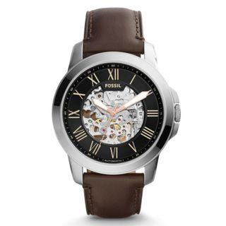 FOSSIL Grant Automatic Black Skeleton Dial Men's Watch ME3100