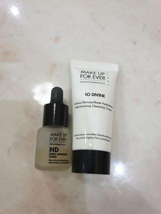 Make up for ever travel size HD elixir and cleanser