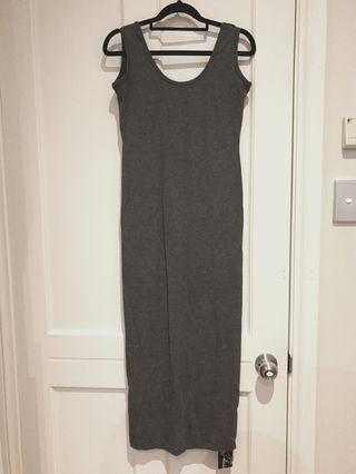 [SIZES UK: 8-10] Grey Maxi Dress