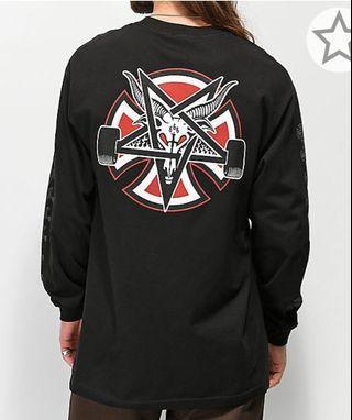 Independent X Thrasher pantagram black t shirt