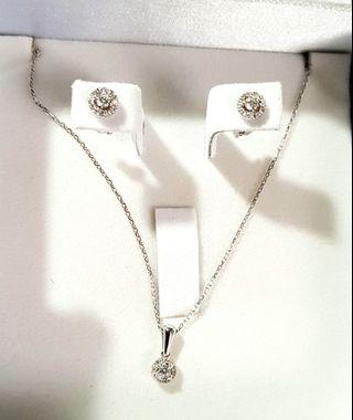 💐18k dia Set Necklace & Earring