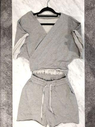 [SIZES UK: 6-8] Grey T-shirt Jumpsuit