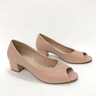 🌟 Vincci peep toe nude shoes