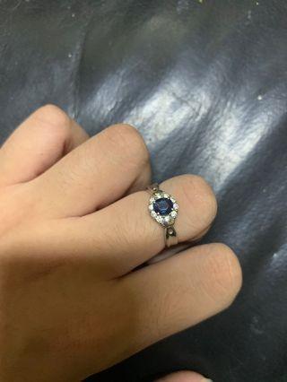 藍寶石鑽石戒旨