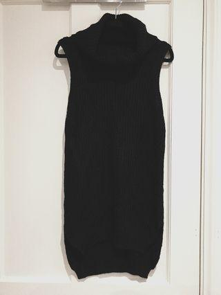[SIZES UK: 6-8] Black Turtle Neck Dress