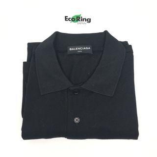 Balenciaga 巴黎世家 2017 Cotton Black Oversized Balenciaga Logo Printed T-shirt 綿 黑色 競選運動標識 寬鬆上衣 100%真品