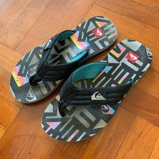 Size 41 quiksliver slippers slipper flip flops flips flop shoes shoe beach swim swimming sea holiday travel traveling 沖浪 滑浪 拖鞋 舒服 沙灘 游水