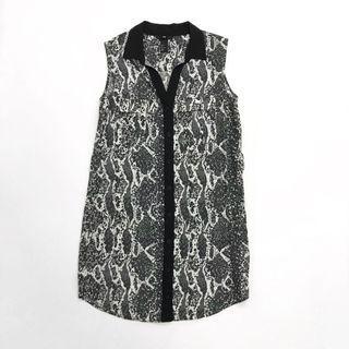 🌟 H&M Grey Patterned Dress
