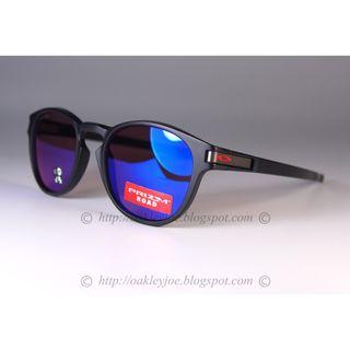 Oakley Latch Urban Collection matte black translucent red + prizm road oo9265-4953 sunglass shades