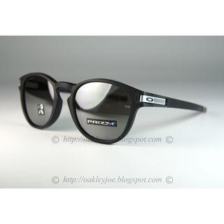 Oakley Latch Asian Fit Grid Collection matte black + prizm black oo9349-1153 sunglass shades