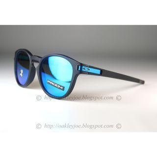 Oakley Latch Asian Fit matte black + prizm sapphire oo9349-1453 sunglass shades