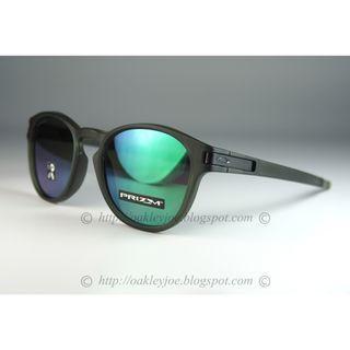 Oakley Latch matte olive + prizm jade iridium oo9349-2153 sunglass shades