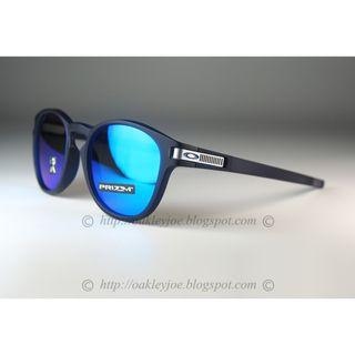 Oakley Latch Asian Fit Grid COllection matte translucent blue + prizm sapphire oo9349-2553 sunglass shades