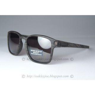 Oakley Latch Squared woodgrai + daily prizm polarized oo9353-05 sunglass shades